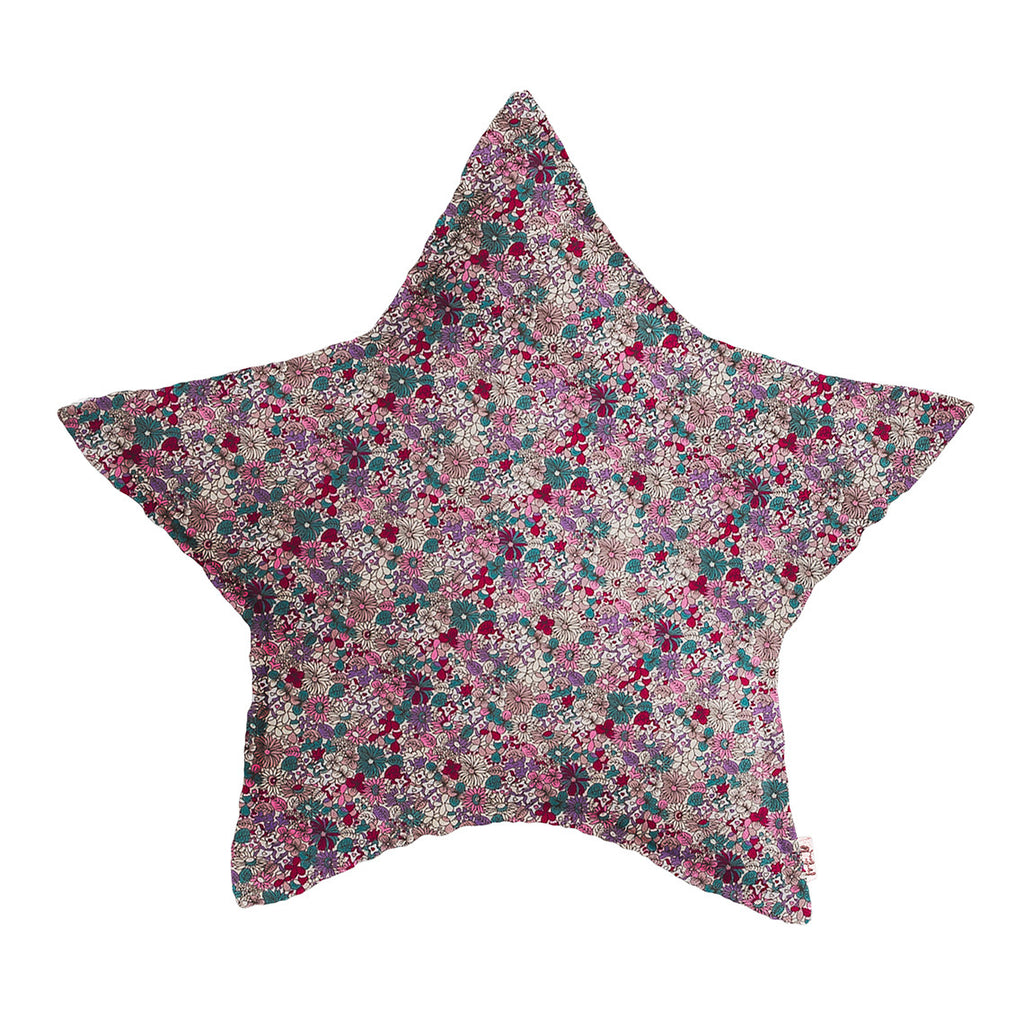 Star Cushion - Bobo Flowers Purple