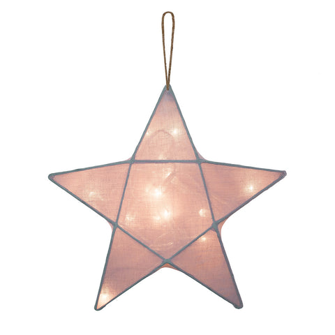 Illuminated Sculpture - Star (Natural)