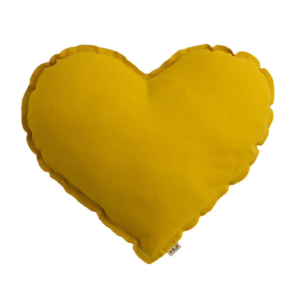 Heart Cushion - Sunflower Yellow