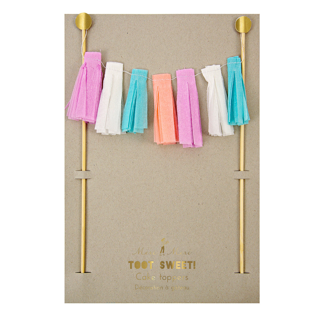 Tassels Garland Party Cake Toppers
