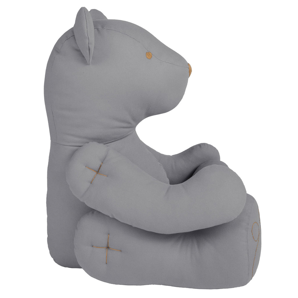Ted Bear Cushion - Stone Grey (Medium)