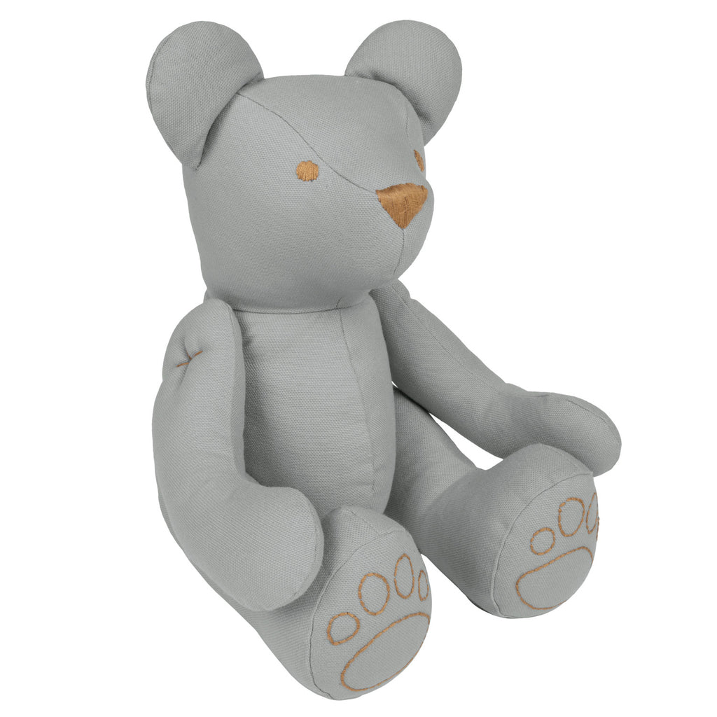 Ted Bear Cushion - Silver Grey (Small)
