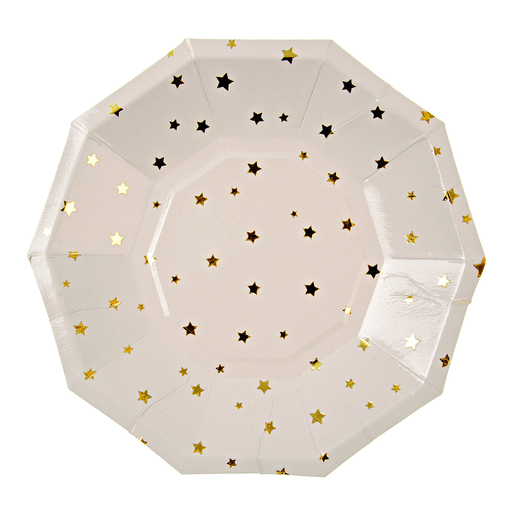 Toot Sweet - Gold Stars Small Party Plate