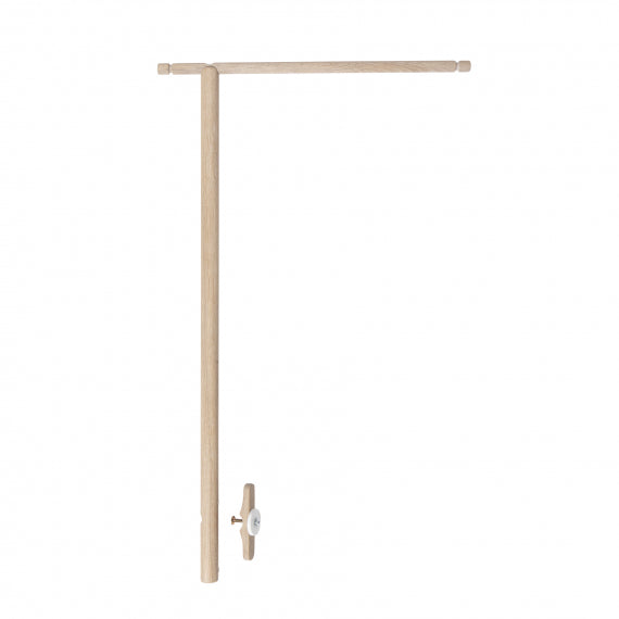 Wood Co-Sleeper - Holder for Bed Canopy and Mobile (Oak)