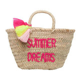 Pompon Embroidered Basket - Summer Dreams
