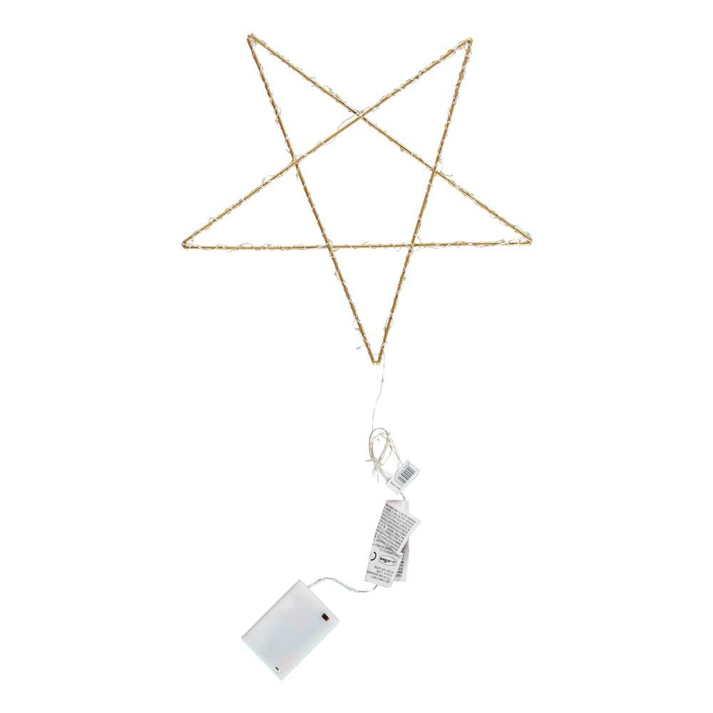 Illuminated Sculpture - Star (Gold)