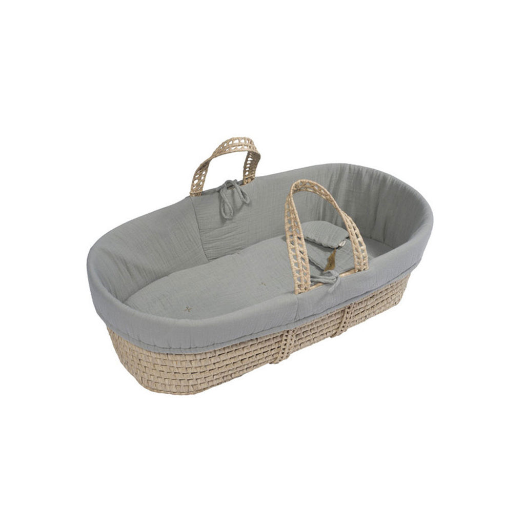 Moses Basket Silver Grey
