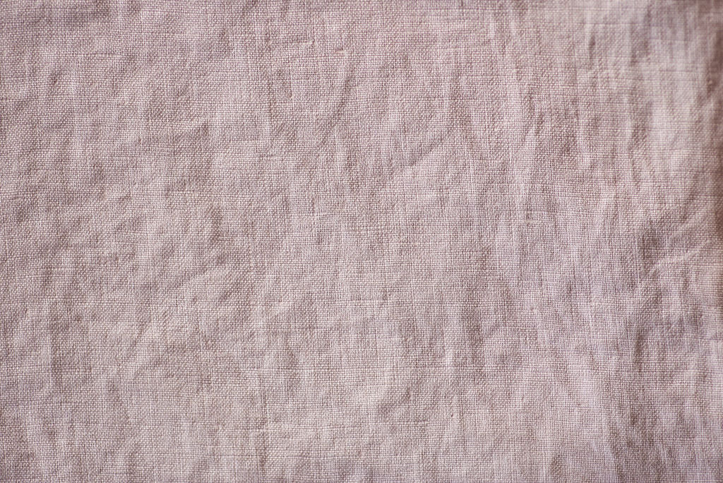 Linen Fitted Sheet Single - Ash Pink (200 x 90x 27 cm)