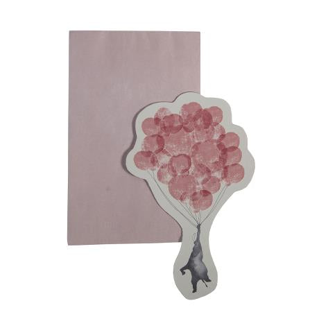 Greeting Card - In The Sky (Elephant Vintage Rose)