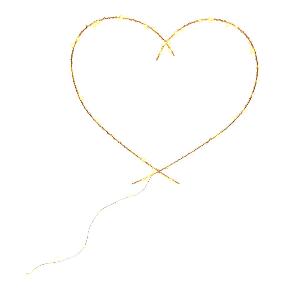 Illuminated Sculpture - Heart (Gold)