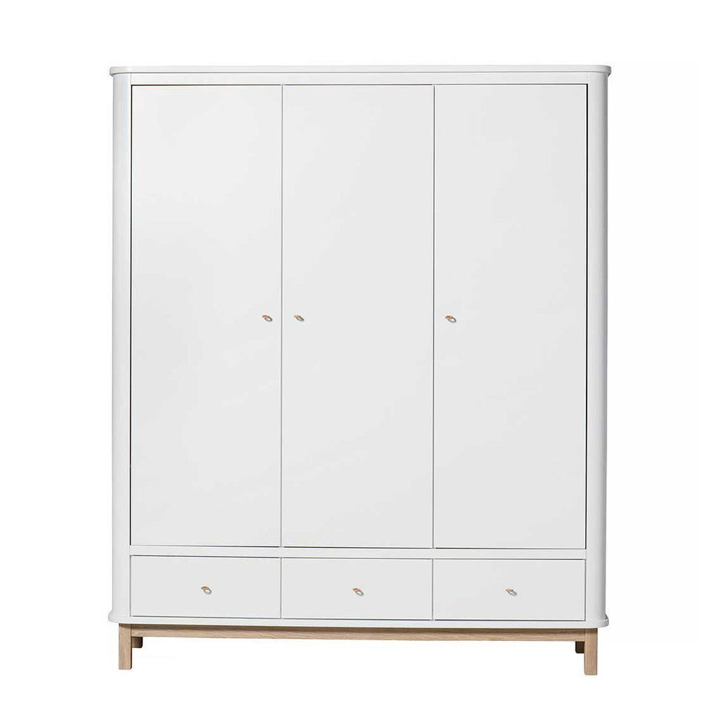 Oliver - Wood Collection Wardrobe - 3 Doors