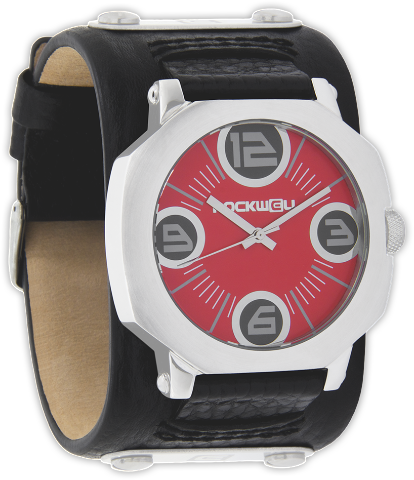 Assassin Red/Silver, Black Leather - Rockwell Australia