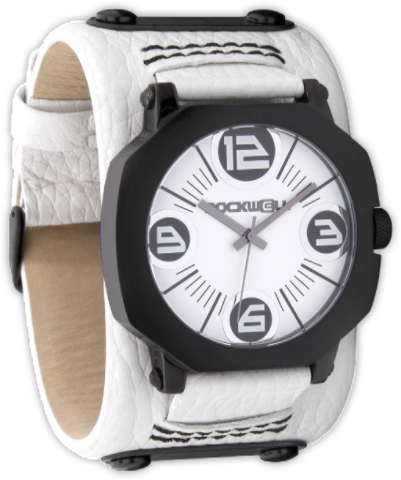 Assassin White/Black, White Leather - Rockwell Australia