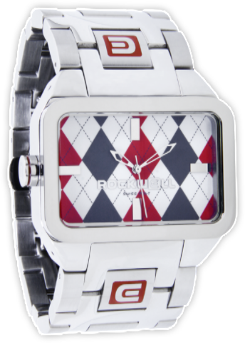 Dual Time Red Argyle/Silver, Silver - Rockwell Australia