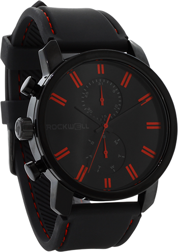 Apollo - Black/Red Silicone - Rockwell Australia