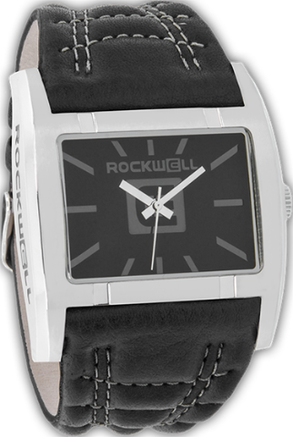 Apostle Black/Silver, Black Leather - Rockwell Australia