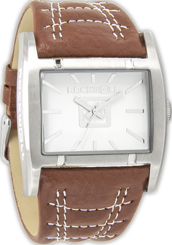 Apostle White/Silver, Brown Leather - Rockwell Australia