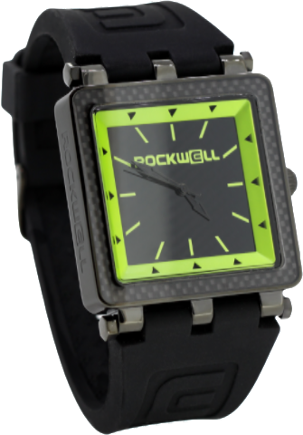 Carbon Fiber Lite - 40mm Black/Green - Rockwell Australia