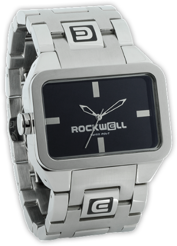 Dual Time Black/Silver, Silver - Rockwell Australia