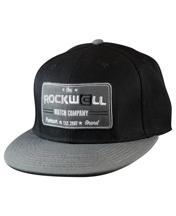 Snapback Hat Watch Co Black/Gray - Rockwell Australia