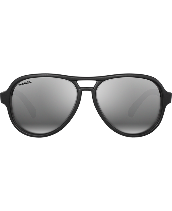 The Casino - Matte Black with Flash Silver Lens - Rockwell Australia