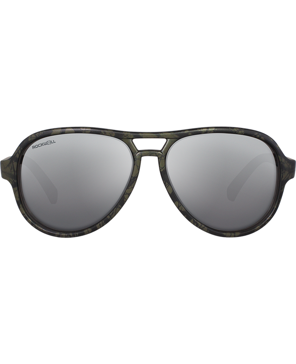 The Casino - Matte Camo with Flash Silver Lens - Rockwell Australia