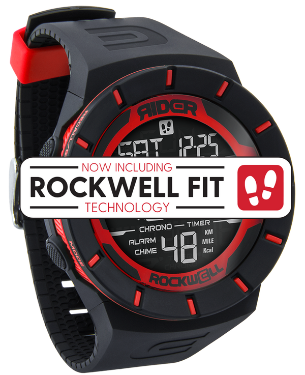 Coliseum Fit™ (Black/Red - Watch) - Rockwell Australia