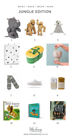 Want, need, wear, read - jungle edit at little whimsy
