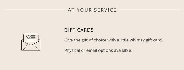 little whimsy gift cards