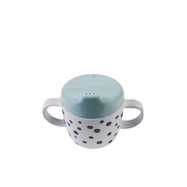 LOVE THIS! 2-Handle Spout Cup, Happy Dots, Blue from Done by Deer - shop at littlewhimsy NZ