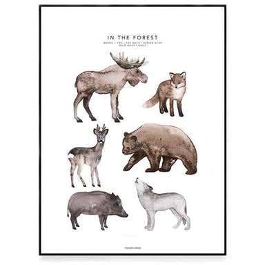 LOVE THIS! Fashionell In the Forest Poster from Fashionell - shop at littlewhimsy NZ