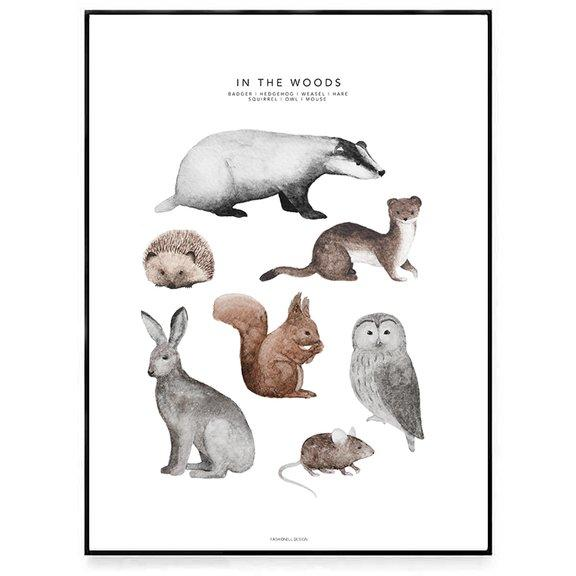 LOVE THIS! Fashionell In the Woods Poster from Fashionell - shop at littlewhimsy NZ