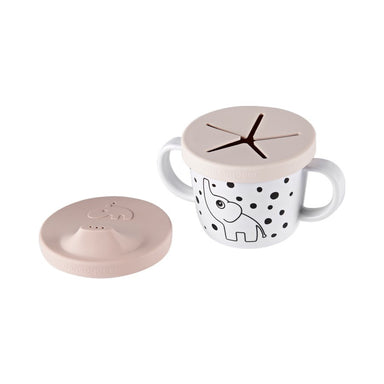 Silicone Spout + Snack Cup - Elphee Powder Pink
