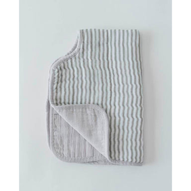 Little Unicorn Muslin Burp Cloth | Grey Stripe