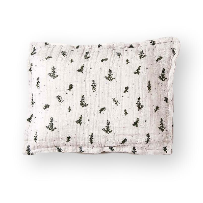 LOVE THIS! Rosemary Muslin Pillowcase from Garbo & Friends - shop at littlewhimsy NZ
