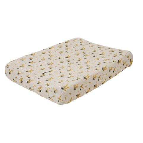 LOVE THIS! Mimosa Muslin Changing Mat Cover from Garbo & Friends - shop at littlewhimsy NZ