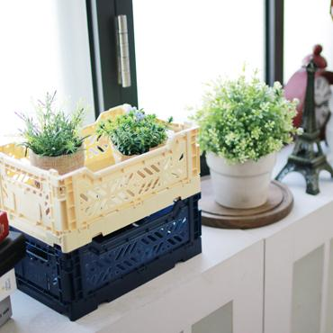 LOVE THIS! AY-KASA Foldable Crate NAVY from AY-KASA - shop at littlewhimsy NZ