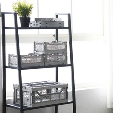 LOVE THIS! AY-KASA Foldable Crate GREY from AY-KASA - shop at littlewhimsy NZ