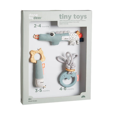 LOVE THIS! Tiny Toys Rattle Set from Done by Deer - shop at littlewhimsy NZ