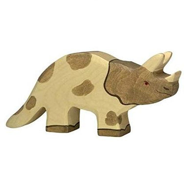 LOVE THIS! Wooden Dinosaur - Triceratops - Holztiger from Holztiger - shop at littlewhimsy NZ