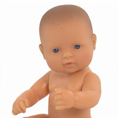 LOVE THIS! Miniland Anatomically Correct Baby Doll Caucasian, 32 cm from Miniland - shop at littlewhimsy NZ