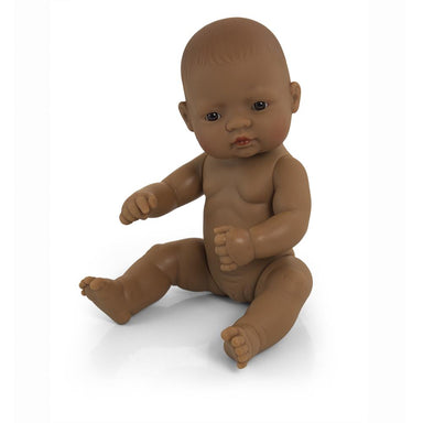 LOVE THIS! Miniland Anatomically Correct Baby Doll Hispanic, 32 cm from Miniland - shop at littlewhimsy NZ