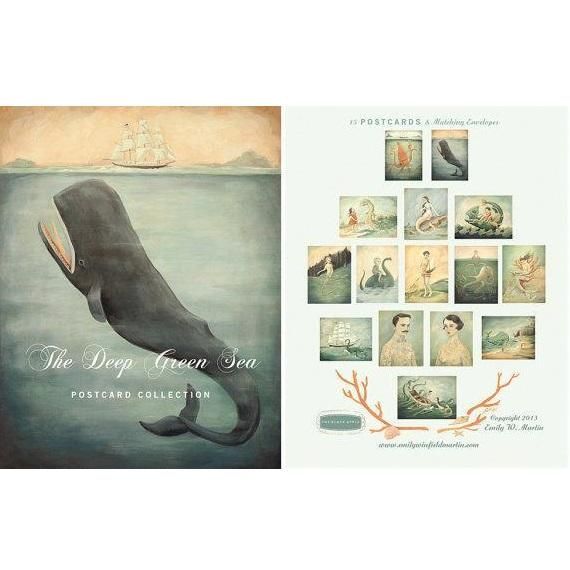 LOVE THIS! The Deep Green Sea Postcard Set of 15 from Emily Winfield Martin - shop at littlewhimsy NZ