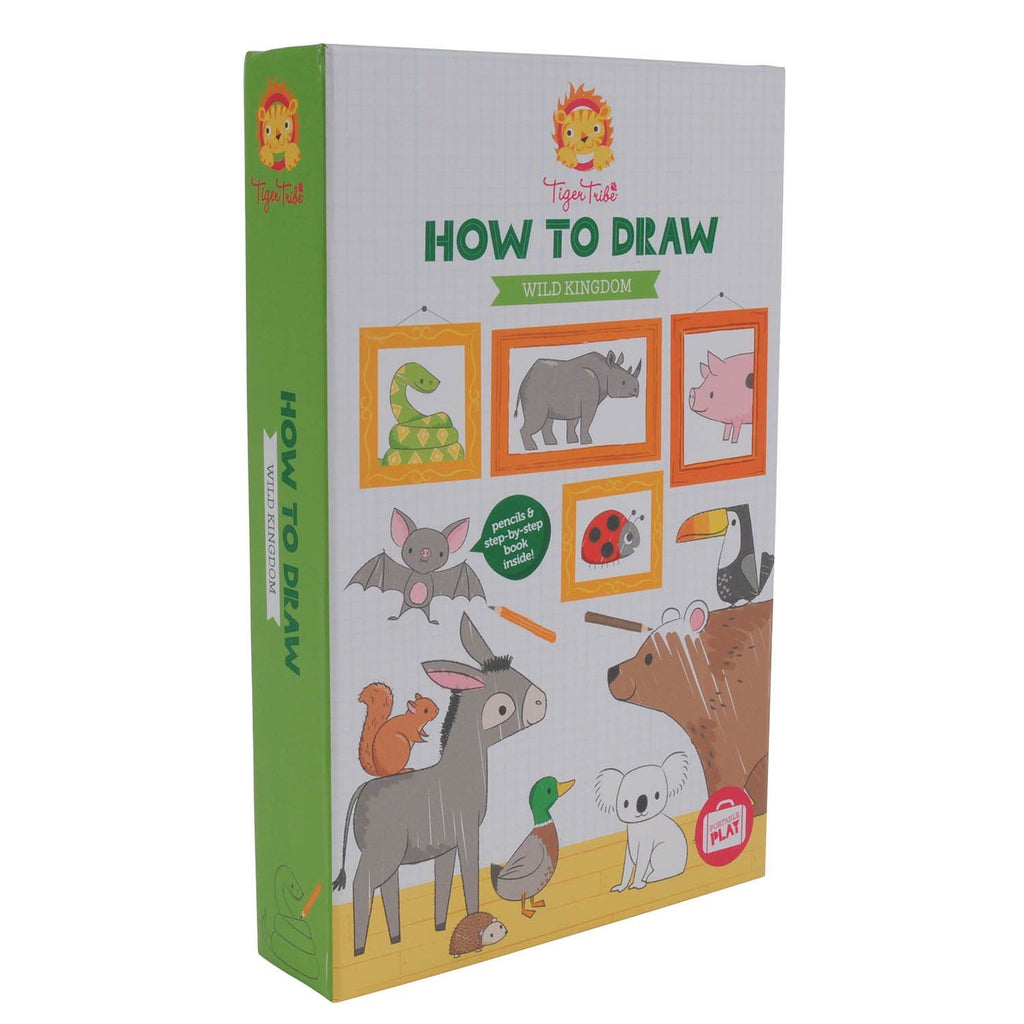 LOVE THIS! How-to-Draw Wild Kingdom from Tiger Tribe - shop at littlewhimsy NZ