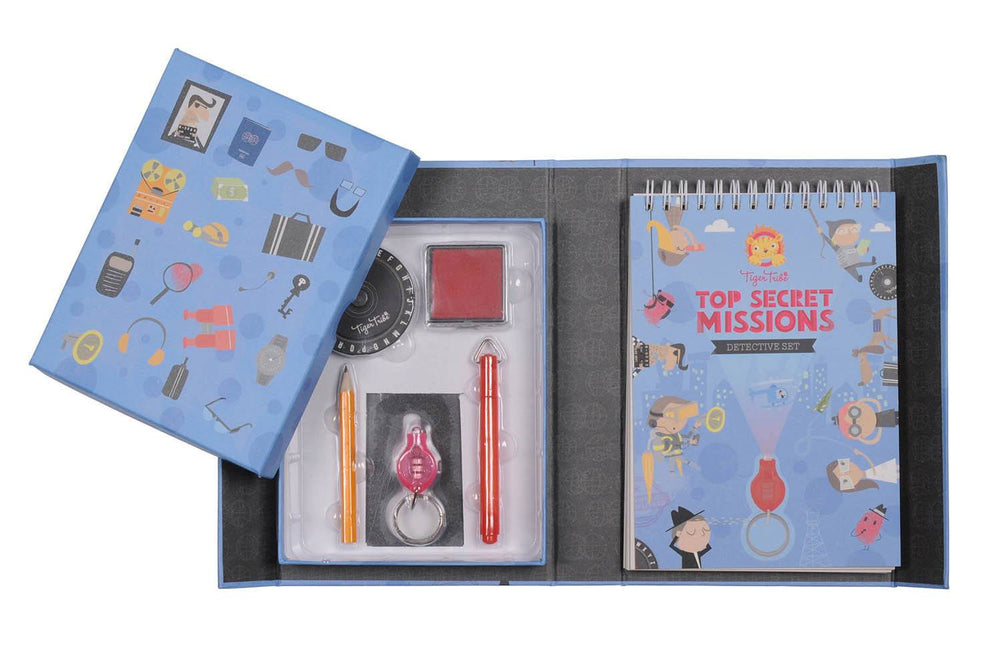 LOVE THIS! Top Secret Missions Detective Kit from Tiger Tribe - shop at littlewhimsy NZ