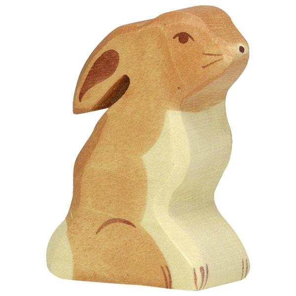 LOVE THIS! Wooden Bunny Sitting - Holztiger from Holztiger - shop at littlewhimsy NZ