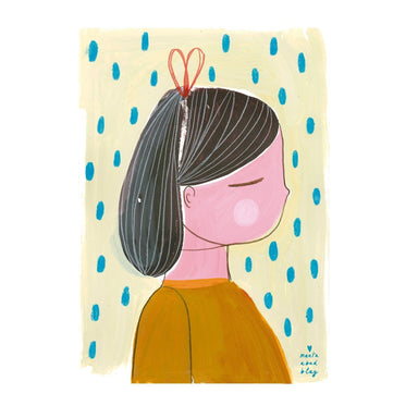 LOVE THIS! Marta Abad Blay Girl 1 Print from Marta Abad Blay - shop at littlewhimsy NZ