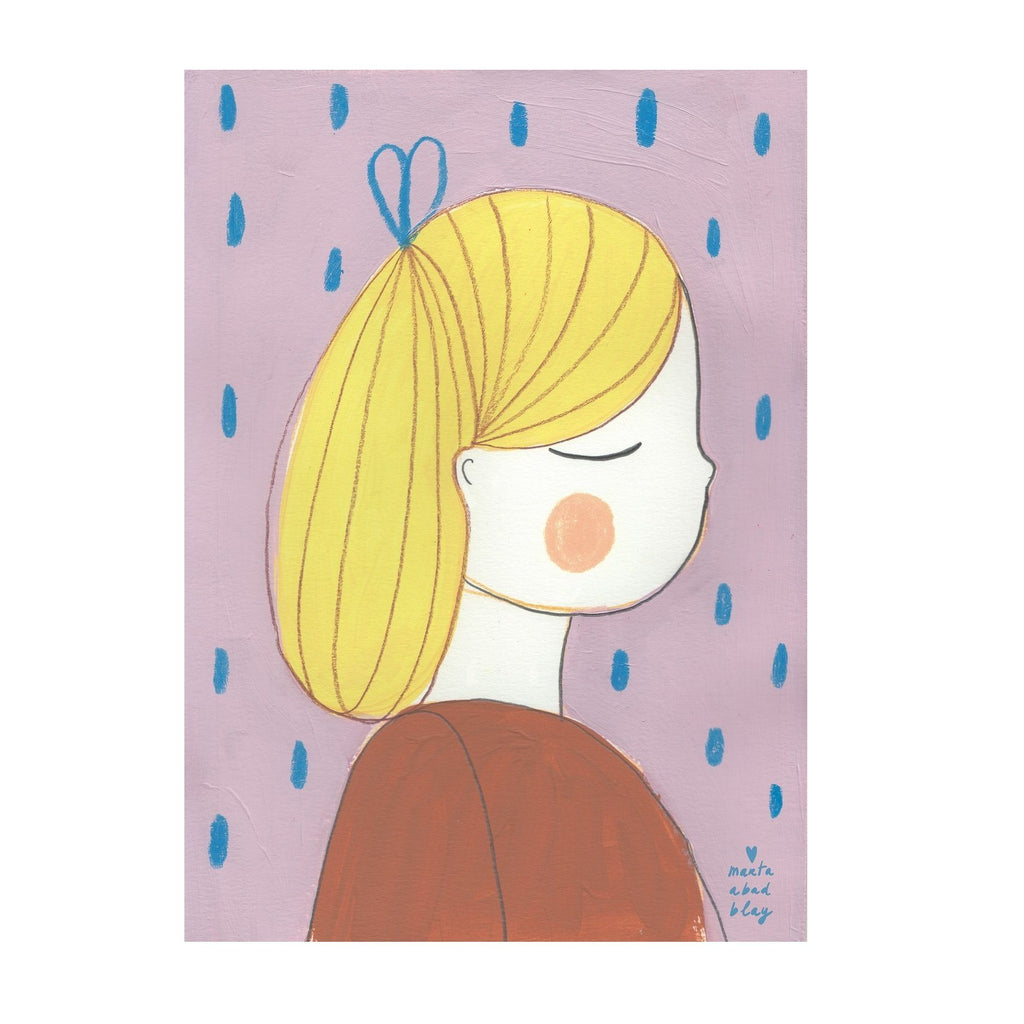 LOVE THIS! Marta Abad Blay Ana Girl Print from Marta Abad Blay - shop at littlewhimsy NZ