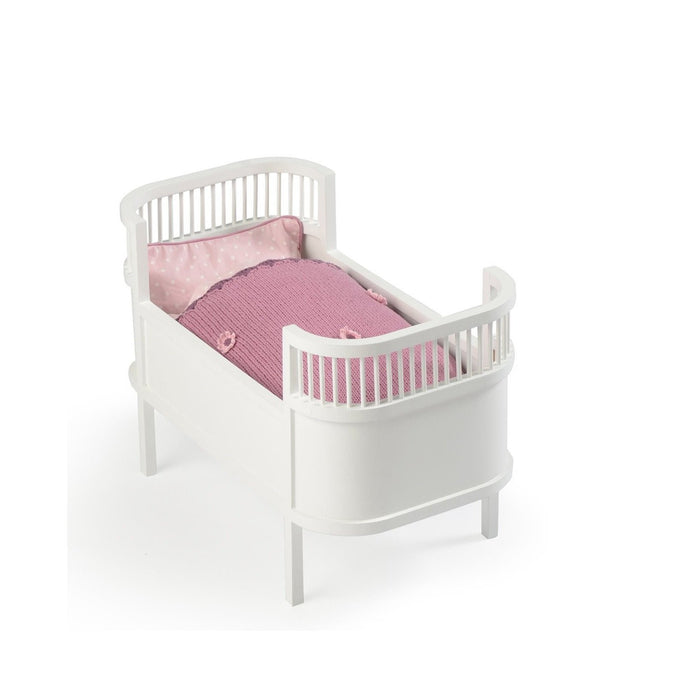 LOVE THIS! Smallstuff Rosaline Doll Cot - White from Smallstuff - shop at littlewhimsy NZ