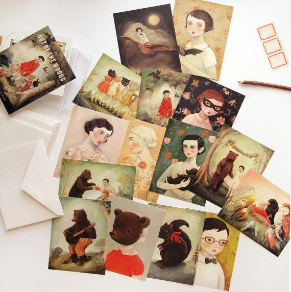 LOVE THIS! Out Of The Woods Postcard Set of 15 from Emily Winfield Martin - shop at littlewhimsy NZ